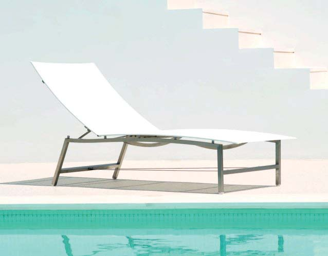 OCEAN CLUB Sonnenliege (LxBxSH)  197x64x33cm in wei